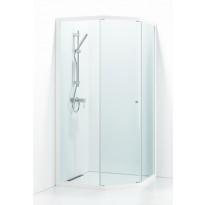 Suihkukulma Svedbergs Ritual 80x90, valkoinen, kirkas lasi