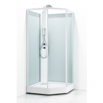 Suihkukaappi Svedbergs Ritual Premium 90x80, valkoinen, kirkas lasi/huurrelasi