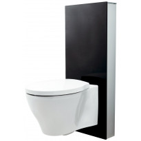 Seinä WC -moduuli Svedbergs 90405, S-lukko, musta lasi, Tammiston poistotuote