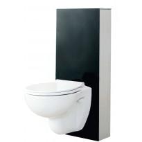 Seinä WC -moduuli Svedbergs 90425, S-lukko, musta lasi, 120mm