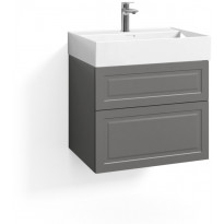 Allaskaappi Svedbergs Stil, 60x45cm, 2 laatikkoa, peilikehys, B1, Eclean, kivenharmaa