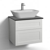 Allaskaappi Svedbergs Stil, pöytätasolla ja malja-altaalla, 60x45cm, eri vaihtoehtoja