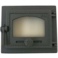 Tulisijan lasiluukku, kaasutiivis, 180x220mm