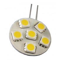 LED-lamppu Baselite Sunwind litteä G4 6SMD 1,2W 12V Ø25mm 145-165l 3000K piikit sivussa