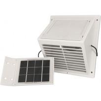MiniVent-tuuletin Sunwind, erillisellä aurinkopaneelilla, valkoinen