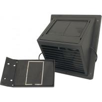 MiniVent-tuuletin Sunwind, erillisellä aurinkopaneelilla, musta