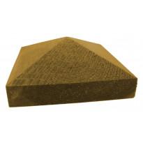 Tolpanhattu Pyramidi K380 123x123x50 mm vihreä 100 mm tolpalle