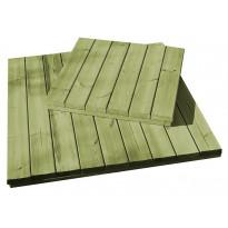 Puulaatta L1640 400x400x16 mm vihreä