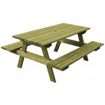 Kalusteryhmä Aleksi N102 1800 mm pöytä/penkkiyhdistelmä vihreä