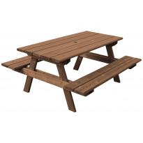 Kalusteryhmä Aleksi N102R 1800 mm pöytä/penkkiyhdistelmä ruskea