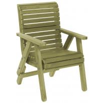 Tuoli Elli N117 jatkojaloilla vihreä