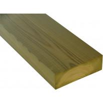 Terassin runkopuu 48x148x4200mm, kestopuu, A, vihreä