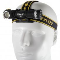 LED-otsa-/taskulamppu Armytek Wizard Pro V3, 2300lm, magneetti-USB + 18650