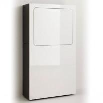 Työpiste Smaider, 65x118,3x26,6cm, korkeakiilto valkoinen