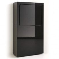 Työpiste Smaider, 65x118,3x26,6cm, korkeakiilto musta