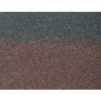 Harja/räystäspala Technonicol Quadrille Agate, 5 m²/pkt, ruskea
