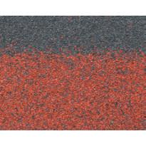 Harja/räystäspala Technonicol Quadrille Tourmaline, 5 m²/pkt, punainen