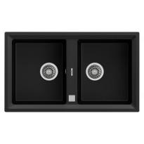 Keittiöallas Teka STONE 90 B-TG, 860x510mm, 2-altainen, tegranit, musta