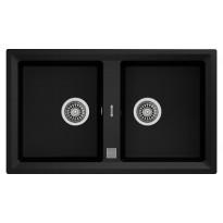 Keittiöallas Teka STONE 90 B-TG, 860x510mm, 2-altainen, tegranit, metallinmusta