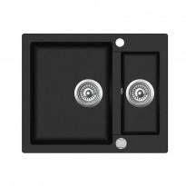 Keittiöallas Teka Clivo 60 S-TQ, 1,5-altainen, 610x465 mm, tegranit, musta graniitti, Verkkokaupan poistotuote