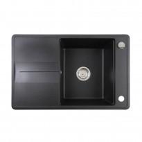 Keittiöallas Teka Estela 50 B-TQ, 1-altainen, valutustasolla, 780x500 mm, tegranit, musta graniitti