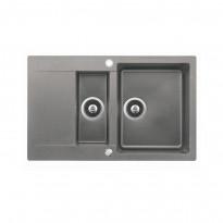 Keittiöallas Clivo 60B-TQ, 2-altainen, valutustasolla, 800x495 mm, tegranit, eri värivaihtoehtoja