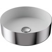 Pesuallas Temal Loop, ø350mm, valkoinen/dark iron, Verkkokaupan poistotuote