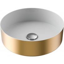 Pesuallas Temal Loop, ø350mm, valkoinen/kulta