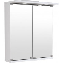 Peilikaappi Temal Basic, 2-ovinen, 50cm, valkoinen, Verkkokaupan poistotuote