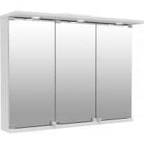 Peilikaappi Temal Basic, 3-ovinen, 80-90cm, valkoinen