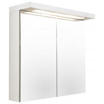 Peilikaappi Temal Optimal, 2-ovinen, 60-90cm, valkoinen