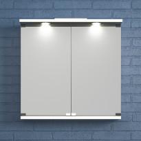 Peilikaappi Temalette kahdella ovella L 50-60cm, valkoinen