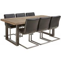 Ruokailuryhmä Tenstar, Vigo-ruokapöytä + 6kpl mustia Bernilla-tuoleja