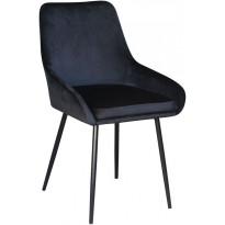 Ruokapöydän tuoli Tenstar Velvet, musta, 4kpl