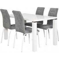 Ruokapöytä Tenstar Metro, 80x140cm, valkoinen
