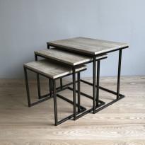 Sarjapöytä Tenstar Metalwood, 3kpl