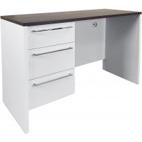 Työpöytä Tenstar Soundi, 3 laatikkoa, valkoinen