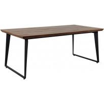Ruokapöytä Tenstar Bono, 100x200cm, ruskea/musta