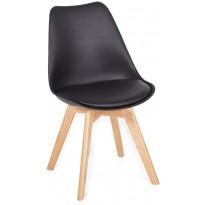 Ruokapöydän tuoli Tenstar Texas, musta/puu, 2kpl