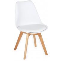 Ruokapöydän tuoli Tenstar Texas, valkoinen/puu, 2kpl