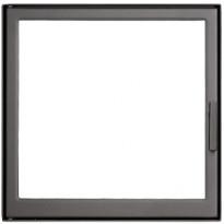 Luukku 410x410 mm teräs grafiitti