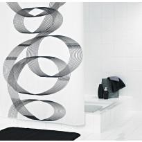 Suihkuverho Ridder Loop 180x200 cm, tekstiili