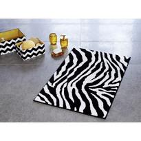 Kylpyhuonematto Ridder Zebra, 60x90, musta-valkoinen