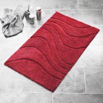 Kylpyhuonematto Ridder La Ola, 60x90, tummanpunainen