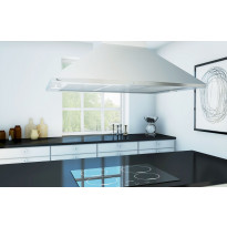 Liesikupu Thermex Stansted, 900mm, tehostusventtiili, kattoon asennettava, rst