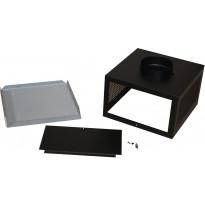 Plasmex-suodattimen asennuskotelo Thermex Vertical, yläkaappi, musta