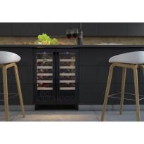 Kahden lämpötilan viinikaappi Thermex Winemex 40, 60x57.4cm, musta, integroitava
