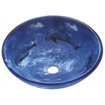 Lasiallas Delfiinit, 420x140mm, sininen