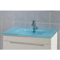 Lasiallastaso, 750x150x460mm, sininen