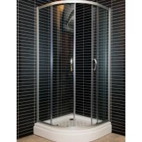 Suihkukulma SKA-900A, 90x90cm, alumiini/kirkas